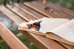 Τα εγκαύματα βιβλίων στοκ εικόνες με δικαίωμα ελεύθερης χρήσης