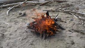 Τα εγκαύματα φωτιών στην παραλία κλείνουν επάνω απόθεμα βίντεο