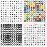 100 τα εικονίδια αγορών καθορισμένα τη διανυσματική παραλλαγή Στοκ φωτογραφίες με δικαίωμα ελεύθερης χρήσης