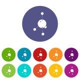 Τα εικονίδια ακετονών καθορισμένα το διανυσματικό χρώμα διανυσματική απεικόνιση