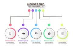 Τα εικονίδια διανύσματος και μάρκετινγκ σχεδίου infographics υπόδειξης ως προς το χρόνο μπορούν να είναι το u στοκ εικόνα