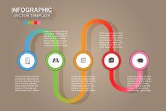Τα εικονίδια διανύσματος και μάρκετινγκ σχεδίου infographics υπόδειξης ως προς το χρόνο μπορούν να είναι το u στοκ εικόνες