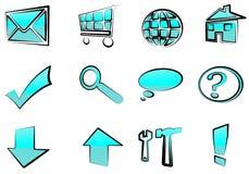 τα εικονίδια κουμπιών πο&u ελεύθερη απεικόνιση δικαιώματος