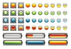 τα εικονίδια κουμπιών φο& Στοκ Εικόνα