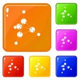 Τα εικονίδια μεθανόλης καθορισμένα το διανυσματικό χρώμα διανυσματική απεικόνιση