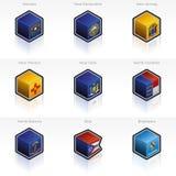 τα εικονίδια σημαιών που τίθενται τα κράτη που ενώνονται Στοκ Εικόνες