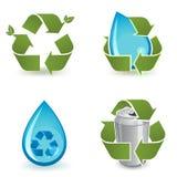 τα εικονίδια ανακυκλών&omicr Στοκ εικόνες με δικαίωμα ελεύθερης χρήσης
