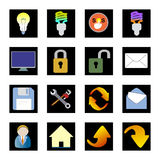 τα εικονίδια Διαδίκτυο υπολογιστών υπογράφουν τον κόσμο Στοκ φωτογραφία με δικαίωμα ελεύθερης χρήσης