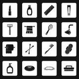 Τα εικονίδια εργαλείων υγιεινής καθορισμένα τακτοποιούν το διάνυσμα Στοκ εικόνες με δικαίωμα ελεύθερης χρήσης