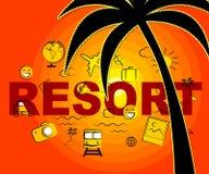 Τα εικονίδια θερέτρου σημαίνουν το σύμβολο σύνθετο και τα ξενοδοχεία διανυσματική απεικόνιση
