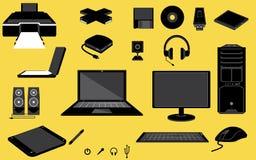 τα εικονίδια Διαδίκτυο υπολογιστών υπογράφουν τον κόσμο Στοκ εικόνες με δικαίωμα ελεύθερης χρήσης