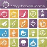 Τα εικονίδια καθορισμένα τα λαχανικά Στοκ εικόνα με δικαίωμα ελεύθερης χρήσης