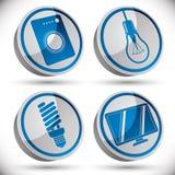 Τα εικονίδια οικιακών συσκευών θέτουν 3 Στοκ Εικόνα