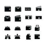Τα εικονίδια πορτοφολιών θέτουν το στοιχείο 16 Στοκ Εικόνες