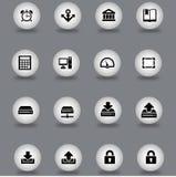 τα εικονίδια που τίθενται τον Ιστό Στοκ εικόνες με δικαίωμα ελεύθερης χρήσης