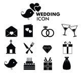 τα εικονίδια που τίθενται το γάμο Στοκ Εικόνες