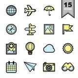 τα εικονίδια που τίθενται το ταξίδι Στοκ εικόνες με δικαίωμα ελεύθερης χρήσης