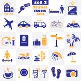 τα εικονίδια που τίθενται το ταξίδι Στοκ φωτογραφίες με δικαίωμα ελεύθερης χρήσης