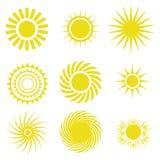τα εικονίδια στοιχείων σχεδίου που τίθενται το διάνυσμα ήλιων Στοκ Φωτογραφία