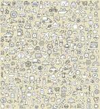 Τα εικονίδια XXL Doodle καθορισμένα No.4 Στοκ Φωτογραφία