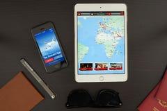Τα εμιράτα App Στοκ Φωτογραφίες