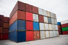 Τα εμπορευματοκιβώτια Στοκ φωτογραφία με δικαίωμα ελεύθερης χρήσης