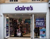Τα εξαρτήματα Claires ψωνίζουν μέτωπο στοκ φωτογραφία με δικαίωμα ελεύθερης χρήσης