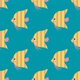 Τα εξωτικά τροπικά ψάρια συναγωνίζονται την άνευ ραφής σχεδίων υποβρύχια ωκεάνια επίπεδη διανυσματική απεικόνιση φύσης πίεσης ειδ Στοκ φωτογραφίες με δικαίωμα ελεύθερης χρήσης
