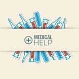 Τα επίπεδα εικονίδια ιατρικής καθορισμένα την έννοια διάνυσμα Στοκ εικόνα με δικαίωμα ελεύθερης χρήσης