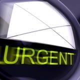 Τα επείγοντα ταχυδρομικά τέλη σημαίνουν την προτεραιότητα ή το πολύ σημαντικό ταχυδρομείο διανυσματική απεικόνιση