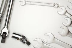 Τα εργαλεία χάλυβα γαλλικών κλειδιών για την επισκευή Στοκ φωτογραφία με δικαίωμα ελεύθερης χρήσης