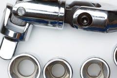 Τα εργαλεία χάλυβα γαλλικών κλειδιών για την επισκευή Στοκ εικόνα με δικαίωμα ελεύθερης χρήσης