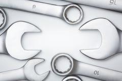 Τα εργαλεία χάλυβα γαλλικών κλειδιών για την επισκευή στοκ φωτογραφίες με δικαίωμα ελεύθερης χρήσης