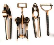 Τα εργαλεία κουζινών/το σύνολο στο άσπρο υπόβαθρο που απομονώνεται/που τίθεται για την κουζίνα που απομονώνεται άσπρος/καθορισμέν Στοκ Φωτογραφίες