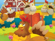 Τα ευτυχή ζώα στο αγρόκτημα Στοκ εικόνες με δικαίωμα ελεύθερης χρήσης
