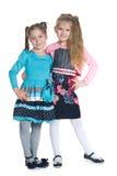 Τα ευτυχή κορίτσια στέκονται από κοινού Στοκ φωτογραφία με δικαίωμα ελεύθερης χρήσης