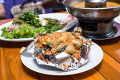 Τα εύγευστα πικάντικα ταϊλανδικά τρόφιμα Στοκ Φωτογραφίες