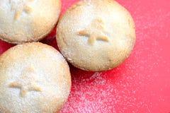 Τα εύγευστα Χριστούγεννα κομματιάζουν τις πίτες Στοκ εικόνες με δικαίωμα ελεύθερης χρήσης