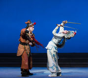 """Τα ελάφια η κάδος-πέμπτη πράξη κλέβουν αθάνατος-Kunqu Opera""""Madame άσπρο Snake† Στοκ Φωτογραφίες"""