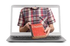 Τα ε-μαθαίνοντας αγγλικά Στοκ εικόνα με δικαίωμα ελεύθερης χρήσης