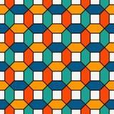 Τα ζωηρά χρώματα επανέλαβαν τη hexagon ταπετσαρία μωσαϊκών κεραμιδιών Άνευ ραφής σχέδιο επιφάνειας με τη φωτεινή σύγχρονη γεωμετρ απεικόνιση αποθεμάτων