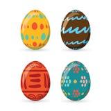 Τα ζωηρόχρωμα αυγά Πάσχας καθορισμένα τη συλλογή, απεικόνιση Αυγά Πάσχας για το σχέδιο διακοπών Πάσχας στο άσπρο υπόβαθρο Στοκ φωτογραφία με δικαίωμα ελεύθερης χρήσης