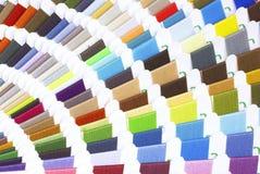 τα ζωηρόχρωμα δείγματα ράβ&omi Στοκ φωτογραφίες με δικαίωμα ελεύθερης χρήσης