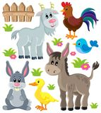 Τα ζώα αγροκτημάτων θέτουν 3 Στοκ εικόνες με δικαίωμα ελεύθερης χρήσης