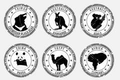 τα ζώα χαρακτηρίζουν εθνι απεικόνιση αποθεμάτων