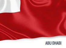 Τα Ηνωμένα Αραβικά Εμιράτα δηλώνουν τη σημαία του Αμπού Ντάμπι Στοκ Φωτογραφία