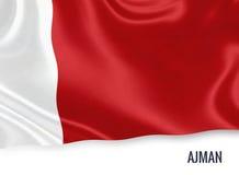 Τα Ηνωμένα Αραβικά Εμιράτα δηλώνουν τη σημαία Ajman Στοκ Εικόνα