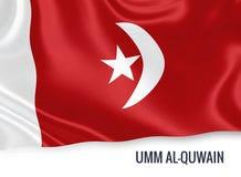 Τα Ηνωμένα Αραβικά Εμιράτα δηλώνουν τη σημαία Umm Al-Quwain Στοκ Φωτογραφία