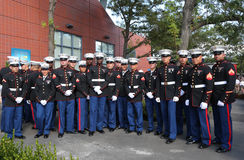Τα Ηνωμένα ναυτικά εθνικό κέντρο αντισφαίρισης βασιλιάδων της Billie Jean πρίν η αμερικανική σημαία προγενέστερες ΗΠΑ ανοίγουν τε Στοκ Εικόνες