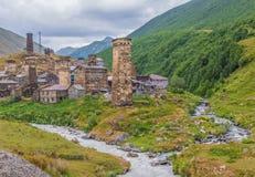 Τα θαυμάσια βουνά Svaneti, Γεωργία στοκ εικόνα